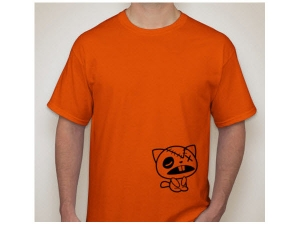 t-shirt handmade Catkuza Orange
